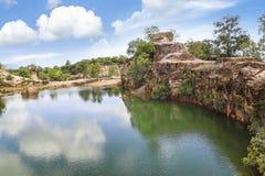 Natural landscape at Ta Pa lake in An Giang province, Vietnam royalty free stock image
