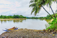 The natural landscape of Takua Pa river Stock Images