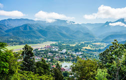 The natural landscape view of Mae Hong Son Province Royalty Free Stock Photography