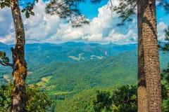 Natural landscape view of mountain range Stock Photos