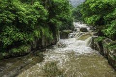 Natural landscape view of Nang Rong Waterfall. It is in Na Hin Lat, Pak Phli District, Nakhon Nayok, Thailand, Southeast Asia Royalty Free Stock Photos