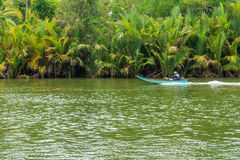 The natural landscape view river and mangrove forest Stock Image