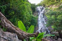 Natural landscape view of Sarika Waterfall. It is in Sarika, Mueang Nakhon Nayok District, Nakhon Nayok, Thailand, Southeast Asia Stock Photo
