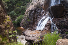 Natural landscape with waterfall on Corsica Stock Photos