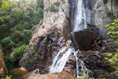 Natural landscape with waterfall, South Corsica Royalty Free Stock Photography