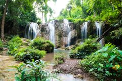 Natural landscape Waterfall stock images