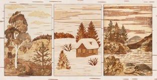 Natural landscapes, application Royalty Free Stock Image