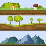 Natural landscapes. Flat design, vector illustration, vector stock illustration
