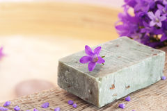Natural lavender soap royalty free stock photography