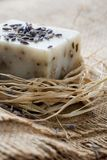 Natural lavender soap Stock Photo