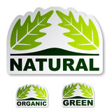 Natural leaf stickers Royalty Free Stock Photos
