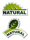 Natural leaf stickers Stock Photography