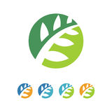 Natural Leaf Symbol Stock Photos