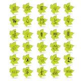 A Natural leafs futuristic icon  Stock Photos