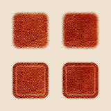 Natural Leather App Icon Template Set Royalty Free Stock Photo