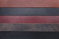 Natural leather belts close-up texture background Royalty Free Stock Photography