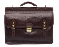 Natural leather both male and female briefcase Royalty Free Stock Photos