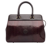 Natural leather female purse Stock Photos