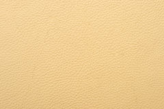 Natural leather texture. Natural qualitative beige leather texture. Close up Stock Image