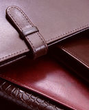 Natural leather wallets stock images