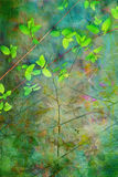 Natural leaves grunge artistic background Royalty Free Stock Photo