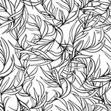 Natural leaves vector seamless pattern. Hand drawn Stock Photos