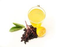 Natural Lemonade with elder berries Stock Image