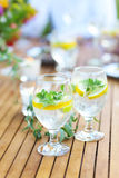 Natural lemonade on the table Royalty Free Stock Photography
