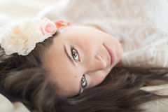 Natural light portrait of an attractive woman stock photo