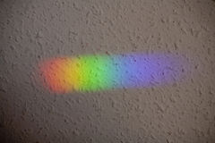 Natural light reflection on the wall. Color spectrum Stock Photos