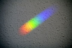 Natural light reflection on the wall. Color spectrum Stock Image