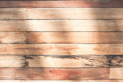 Natural light on wood plank wall texture background Stock Photo