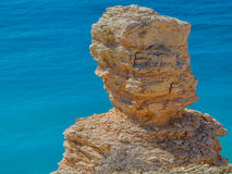 Natural limestone sculpture in Cyprus Royalty Free Stock Images