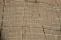 Natural linen cloth background. Organic fabric texture patterns. Stock Photography