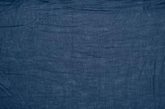 Natural linen cloth texture. Blue crumpled natural linen cloth texture as background royalty free stock images