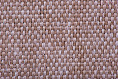 Natural linen fabric for embroidery. Beige, brown color. Natural linen fabric for embroidery. Beige, brown color Stock Photo