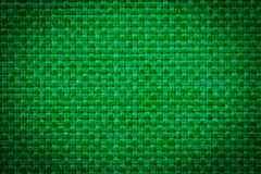 Natural linen fabric for embroidery. Green color. Royalty Free Stock Image