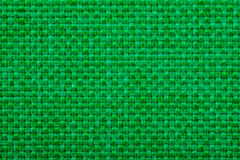 Natural linen fabric for embroidery. Green color. Royalty Free Stock Photography