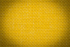 Natural linen fabric for embroidery. Yellow color. Natural linen fabric for embroidery. Yellow color Stock Photo
