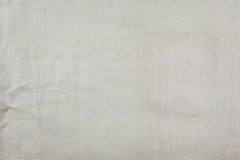 Natural linen fabric texture white Royalty Free Stock Photos