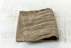 Natural linen napkin Stock Image