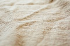 Natural linen texture and background. Close up view of fabric linen texture for design.