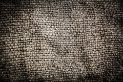Natural linen texture for the background. Dark Gray colored  tex Stock Photos
