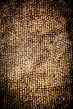Natural linen texture for the background. Dark Grunge textile ba Stock Photos