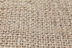 Natural linen texture or background, selective focus Royalty Free Stock Photos
