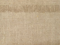 Natural linen texture pattern with fringe.Abstract background. Royalty Free Stock Photography