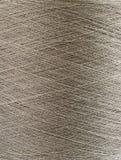 Natural linen yarn bobbin Stock Photography
