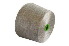 Natural linen yarn bobbin Stock Photos
