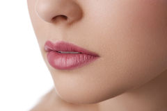 Natural lips close up Royalty Free Stock Image