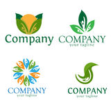 Natural logo design stock photography